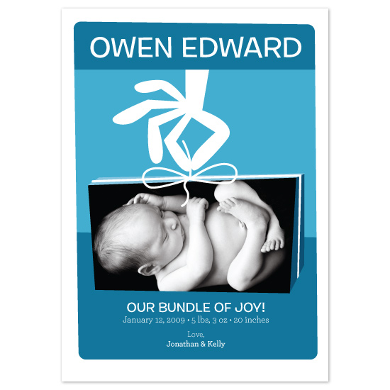 birth announcements - Blue Bundle of Joy by John Coulter