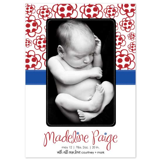 birth announcements - Madeline Paige by Blush Creative