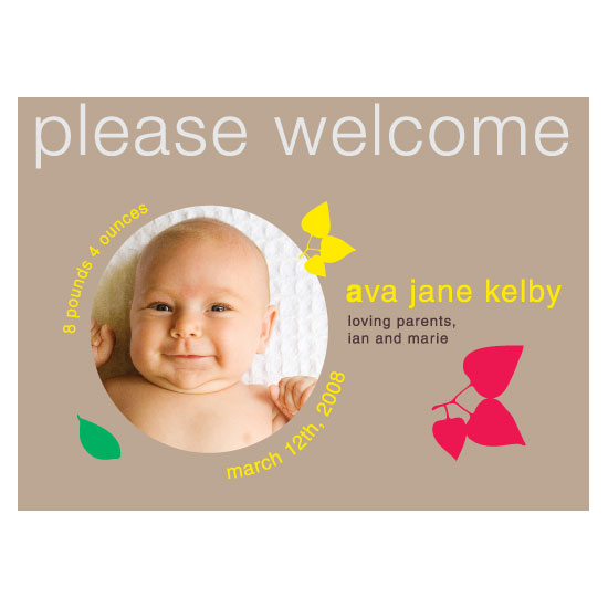 birth announcements - Baby Brights by Words & Objects