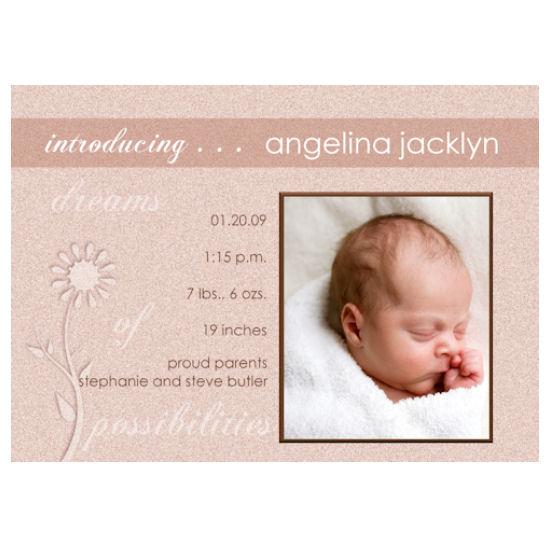 birth announcements - Angelina Jacklyn by Grafik Expressions