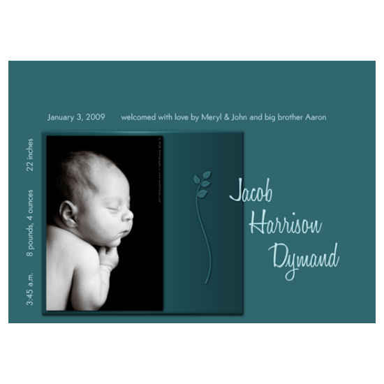 birth announcements - Jacob Harrison by Grafik Expressions