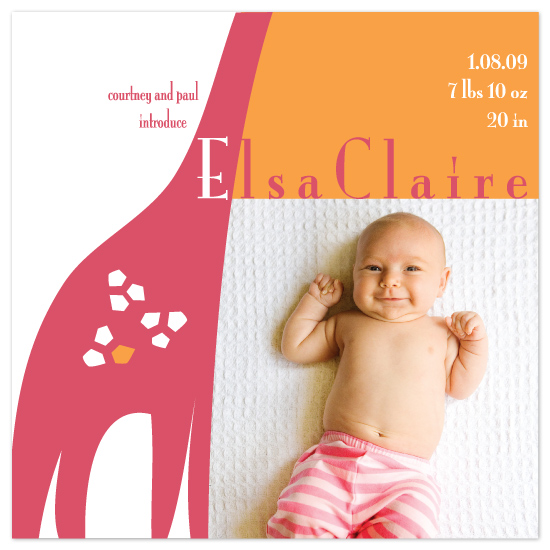 birth announcements - Long Awaited by Jill Bee Designs