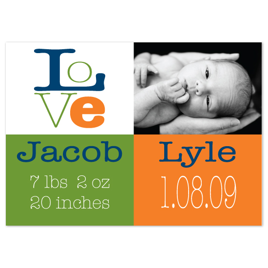 birth announcements - Love Baby by Jill Bee Designs