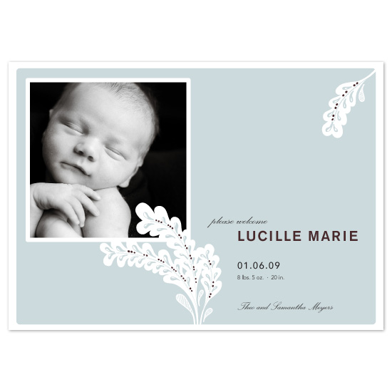 birth announcements - Simple + Lovely by flock press