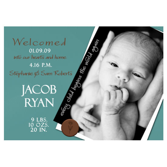 birth announcements - Jacob Ryan by Grafik Expressions