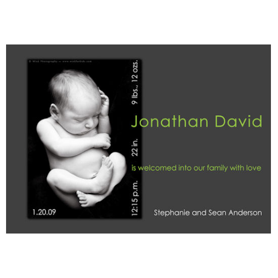 birth announcements - Jonathan David by Grafik Expressions
