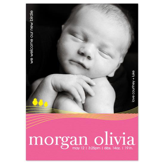birth announcements - Morgan Olivia by Blush Creative