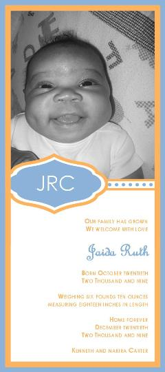 birth announcements - Jaida Announcement by Nakira