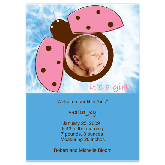 birth announcements - LadyBug by Blue Lotus
