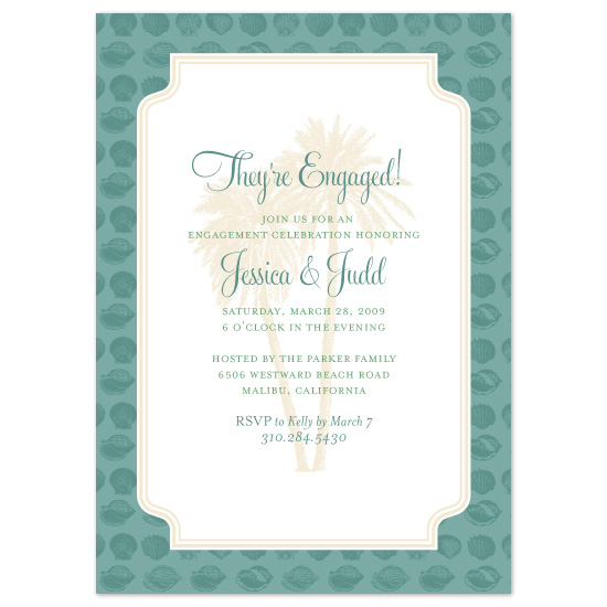 wedding stationery - Beach Party Invitation by John Coulter