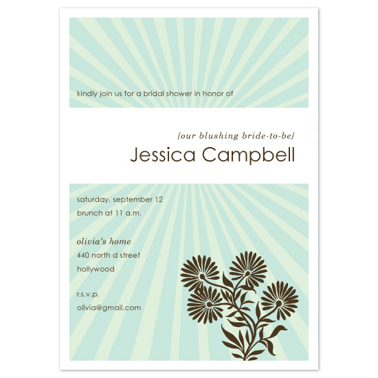 wedding stationery - Bright Shower by Alison Michael