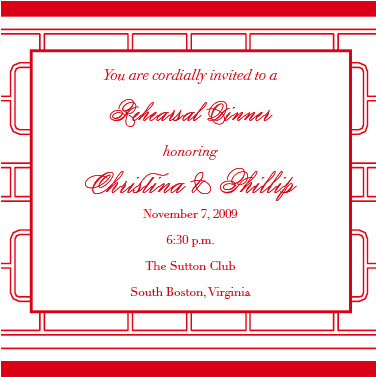 wedding stationery - red asian pattern by ciao•tay