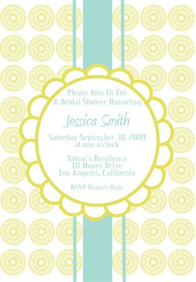 wedding stationery - Luxe Shower by Fresh Press Invitations