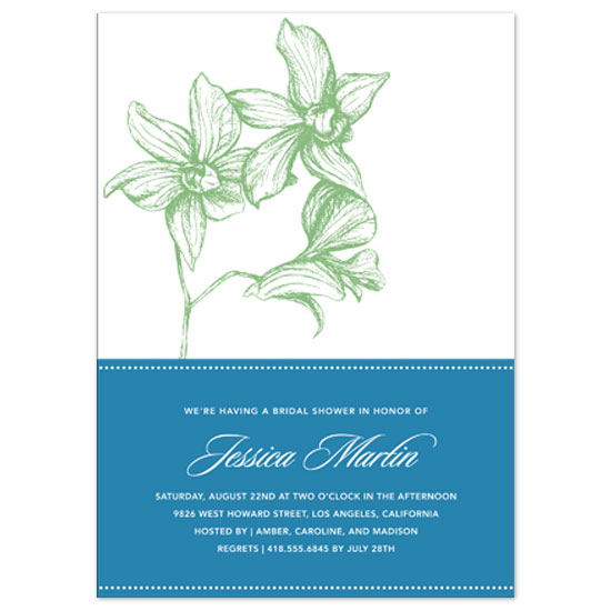 wedding stationery - Green Orchids by Susan McArdle