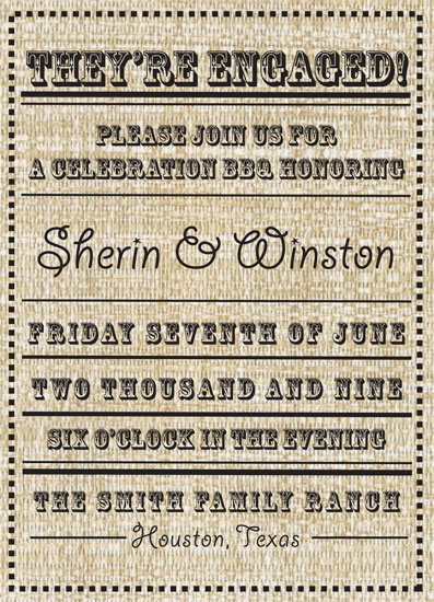 wedding stationery - A Country Affair by Fresh Press Invitations