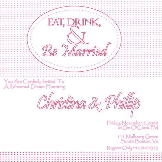 wedding stationery - Eat Drink and Be Married by Fresh Press Invitations