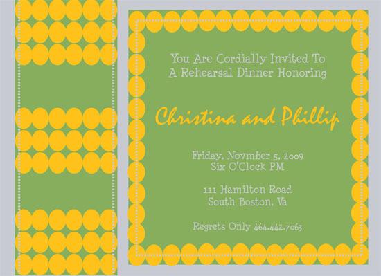 wedding stationery - Stitched Rehearsal by Fresh Press Invitations
