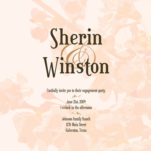 wedding stationery - Spring time in Bloom by Megan Eileen Designs