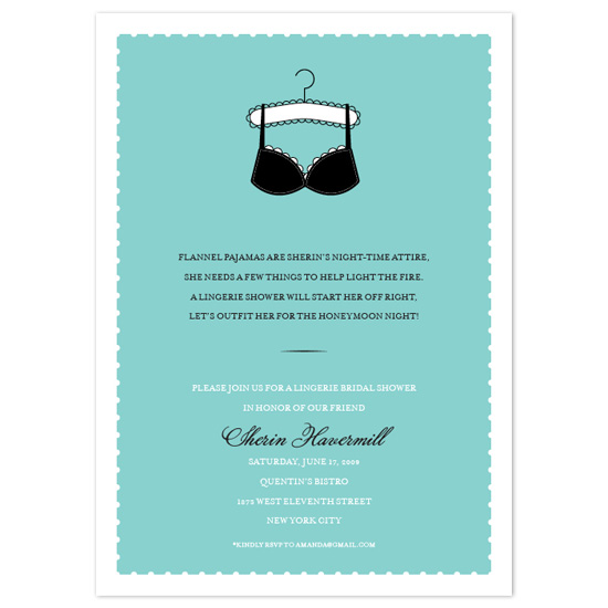 wedding stationery - Lingerie Bridal Shower by Paper Plains