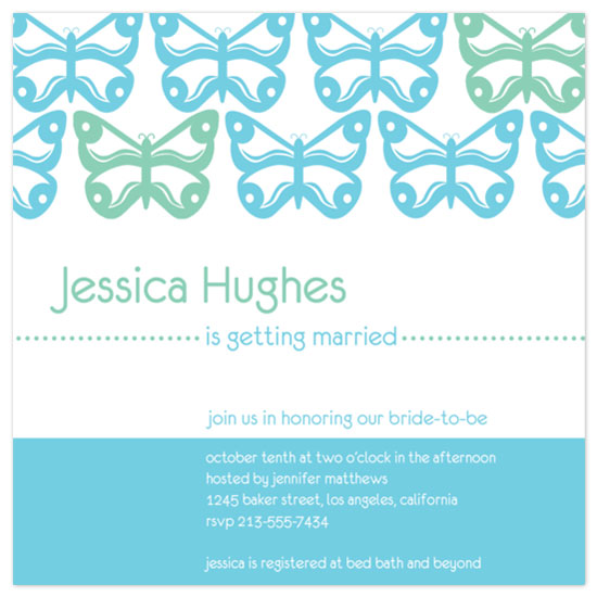wedding stationery - Butterfly Row by Lori Moore