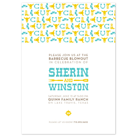 wedding stationery - Yehaw! by Jody Wody