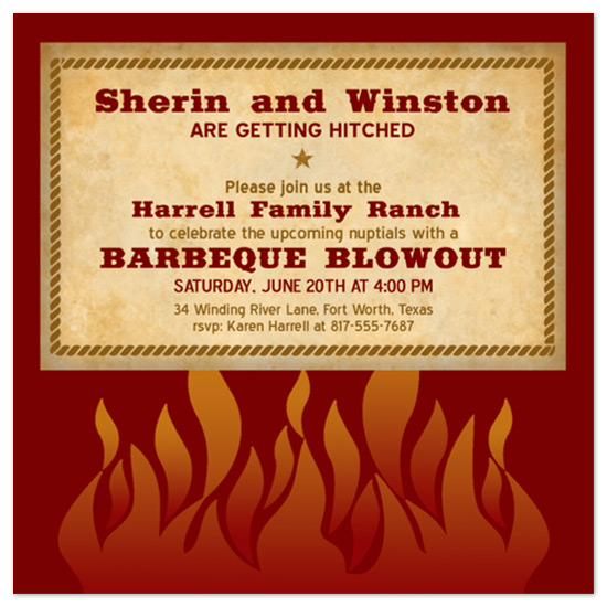 wedding stationery - Hot Flames by Lori Moore