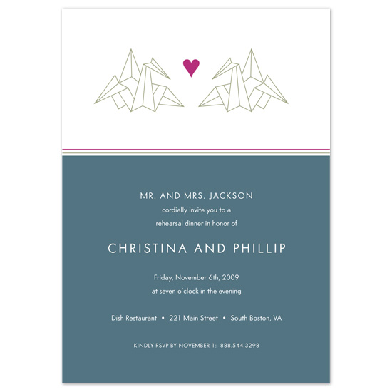 wedding stationery - Love Origami by Sublime Design