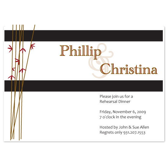 wedding stationery - Bamboo by Sharon