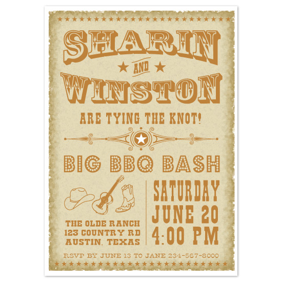 wedding stationery - Vintage Western  by Coco and Ellie Design