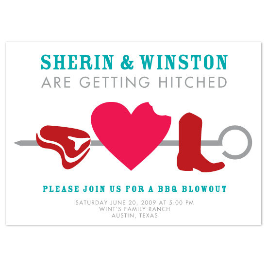 wedding stationery - Skewered Love by Megan Rotondo