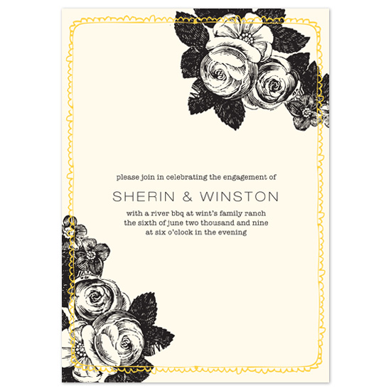 wedding stationery - ink and floral by Baumbirdy