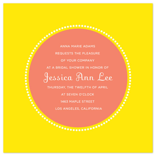 wedding stationery - grapefruit by suite p
