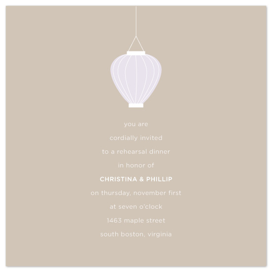wedding stationery - lantern by suite p