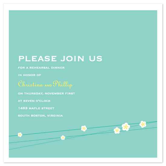wedding stationery - white blossoms by suite p
