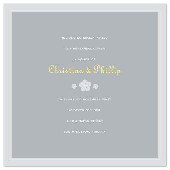 wedding stationery - dingbat blossoms by suite p