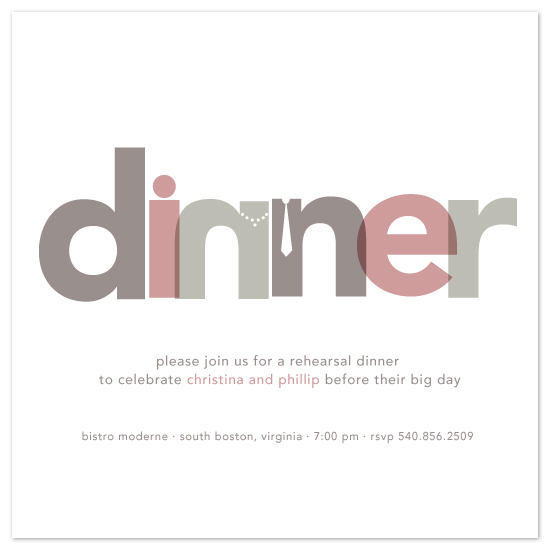 wedding stationery - Dinner Party by Jody Wody