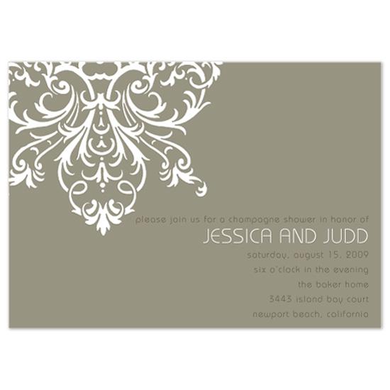 wedding stationery - Champagne Shower by Splendid Press