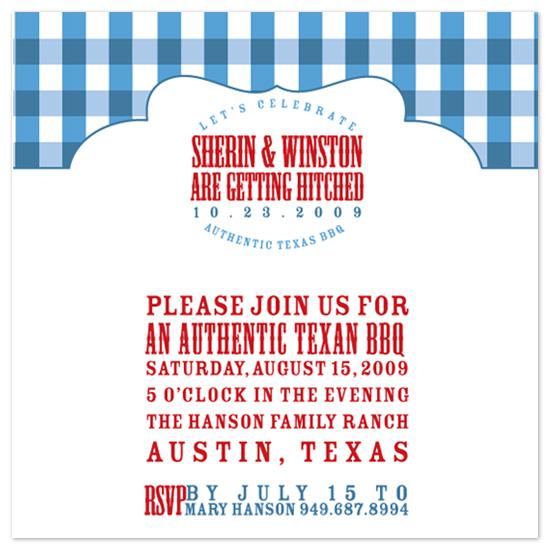 wedding stationery - Texas BBQ by Splendid Press