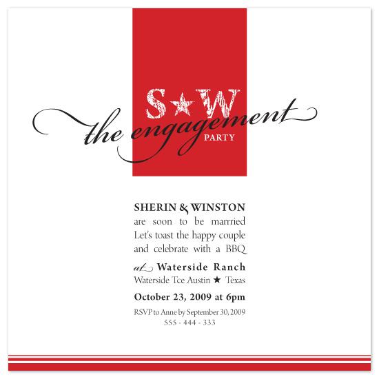 wedding stationery - Texan Star by Natalie Sullivan Graphic Design