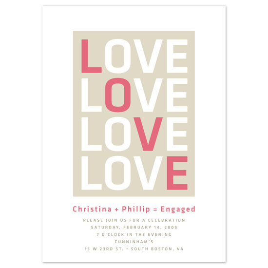 wedding stationery - Love by Tara Hanneman