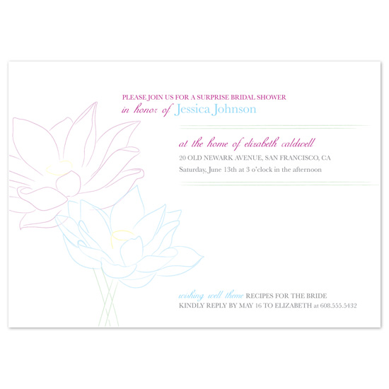 wedding stationery - Lotus by l