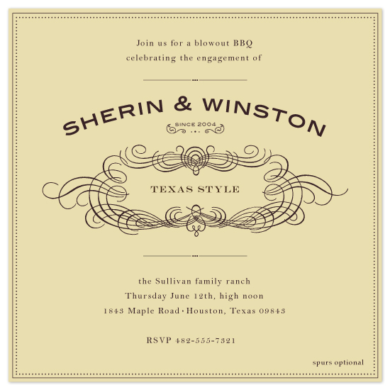 wedding stationery - Old Time BBQ by Ariel Rutland
