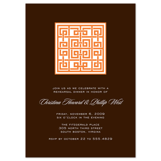 wedding stationery - Block Lattice by the co.co. studio