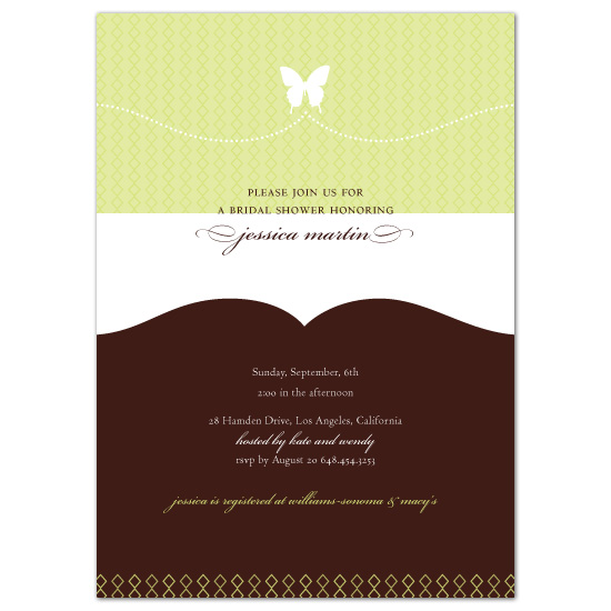 wedding stationery - butterfly shower by sweet tree studio