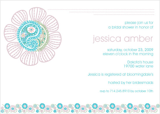 wedding stationery - Flower Shower by Ssongji