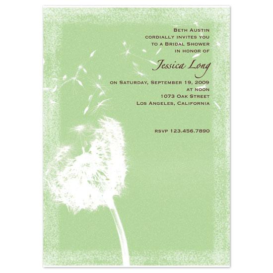 wedding stationery - Dandelion Wishes by Blue Lotus