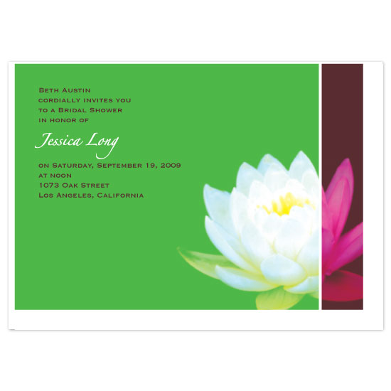 wedding stationery - Lotus Blossom by Blue Lotus