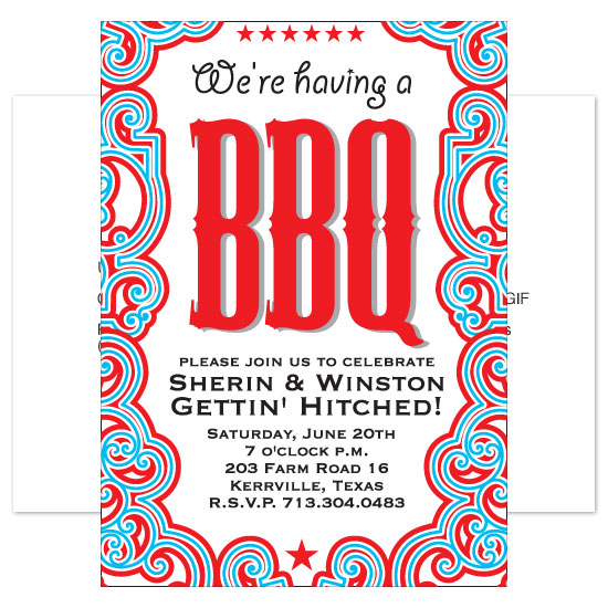wedding stationery - BBQ Party Hearty by Mary Young