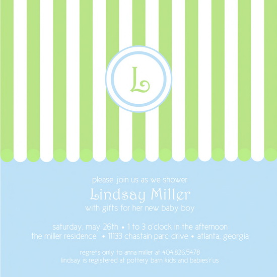 baby shower invitations - Big Top Monogram by daisiesndoodlebugs