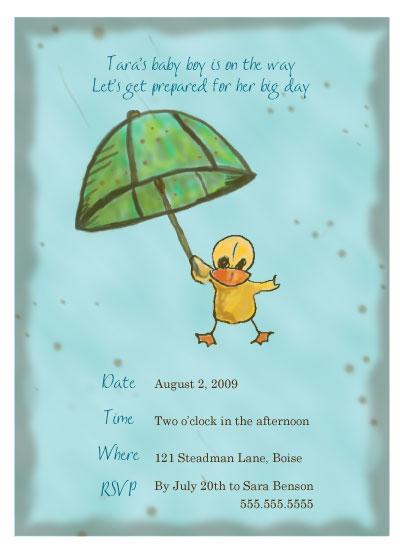 baby shower invitations - Vintage Rain by Sharon